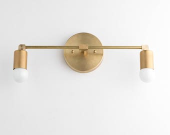 Vanity Lights   Brass Vanity Lighting   Mid Century Industrial   Modern  Wall Sconce   BathroomLight Fixtures   Etsy. Fixtures Lighting. Home Design Ideas