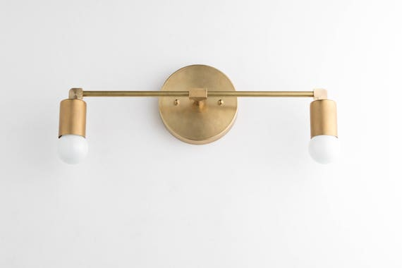 Bathroom Light Fixtures Mid Century Modern vanity lights brass vanity lighting mid century industrial