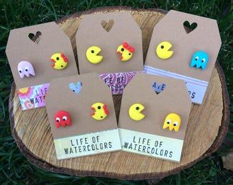 Pacman earrings (5 designs) / / earrings Pacman (5 designs)