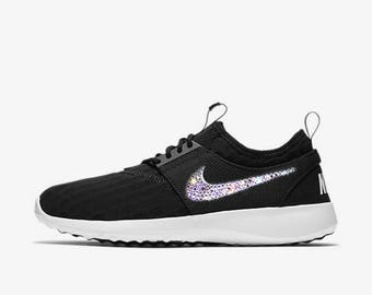 crystal Nike Juvenate Bling Shoes with Swarovski Crystals Women's Running Shoes Black