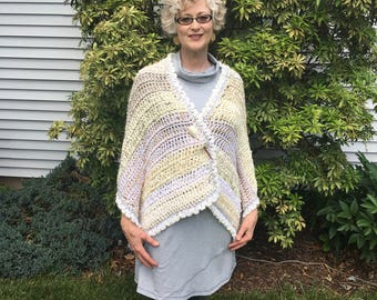 Prayer Shawl, Cafe au Lait -- SOLD; however, a similar shawl can be made to order