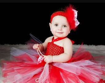 Baby girl christmas dress, girls red dress, red tutu dress, first christmas dress, party dress, baby girl photography outfit, red tutu