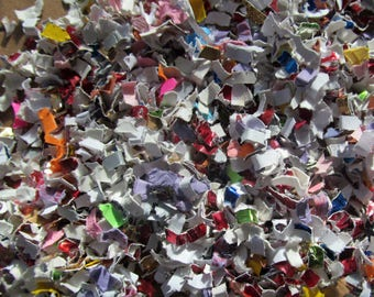 Confetti made from MULTICOLORED CARDSTOCK, rainbow confetti, ideal for: packaging stuffing, crafting, paper scrapbooking and art projects