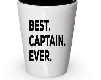 Captain Shot Glass, Best Captain Ever, Captain gift, Gift for Captain  , Birthday Gift, Christmas Present