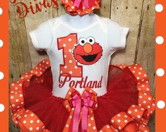 Elmo tutu, Elmo dress, Elmo Birthday, Elmo party, Elmo birthday tutu, Elmo cake smash, Elmo