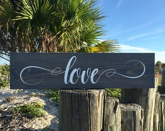 Love Decor, Farmhouse Love Sign, Rustic Love Decor, Love Sign, Love Wood Sign, Love Quote Wood Sign, Farmhouse Love, Valentine's Day Gift