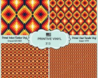 Tribal indian Pattern Vinyl/Siser HTV/ Oracal/ Indoor Vinyl/ Outdoor Vinyl/ Heat Transfer Vinyl- 313
