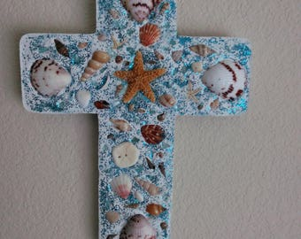 Seashell Wall Cross
