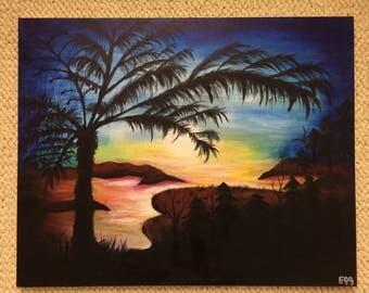 Beach Sunset Paradise