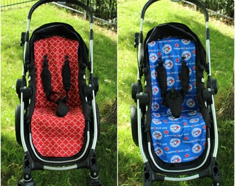 Blue Jays/Red Quatrefoil - City Select Reversible Stroller/Pram Liner - Ready to ship!