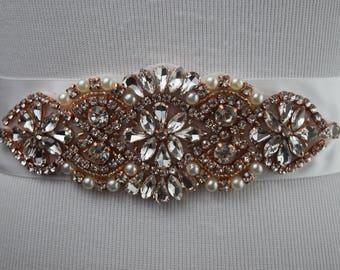 Bridal Sash, Crystal Wedding Sash Belt, Wedding Sash, Bridal Sash Belt, Wedding Belt, Rhinestone Bridal Sash Belt, ITEM #SRGB