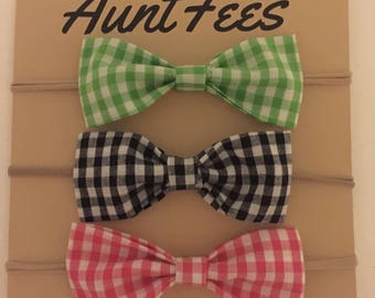Gingham Watermelon set of Bows!