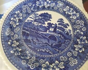 "Dinner plate Copeland ""Spode's Tower"" Blue - 1900 England"