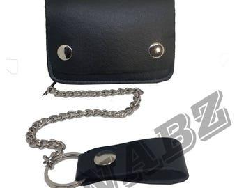 Biker Chain Faux PU Leather Wallet