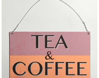 Tea & Coffee Room Sign Cafe House Kitchen Hanging Cafe