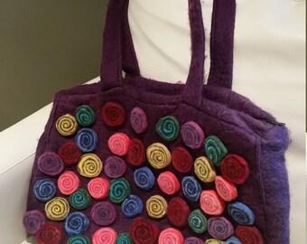 Manos del Uruguay Large Handbag - Handmade 100% Wool