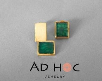 """""""sunshine"""" green earrings"""