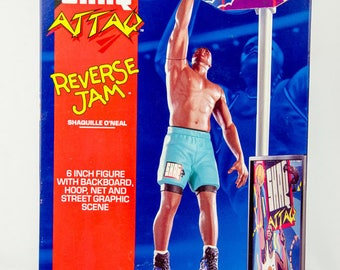 Kenner NBA Shaquille Oneal Shaq Attaq Reverse Jam Action Figure Playset
