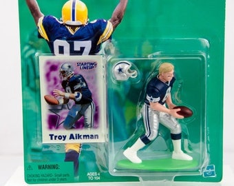 Starting Lineup 2000 NFL Dallas Cowboys Troy Aikman Action Figure