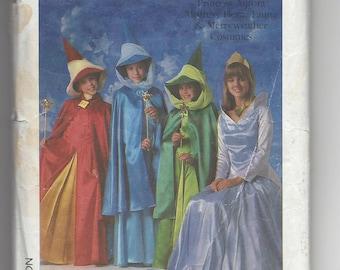 Vintage Costume Pattern Simplicity 8328 Sleeping Beauty Aurora Good Fairies Costume Pattern 1987 Flora Fauna Merryweather, Sz 2&4 Disney