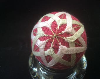 17 cm Pink Kiku Temari