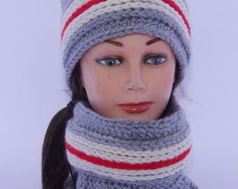 """Hat and neckwarmer """"Cottage"""""""