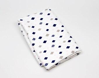 Navy & Pink Diamonds Swaddle Blanket