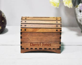 Personalised Wooden Treasure Chest Money Box