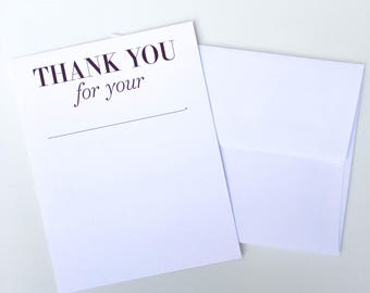 THANK YOU // flat A2 card with envelope