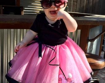 Poodle skirt, sock hop, 50's skirt, pink poodle skirt, poodle tutu skirt