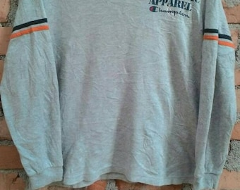 Vintage Champion Athletic Apparel Gray Color Size M Good Condition Size M