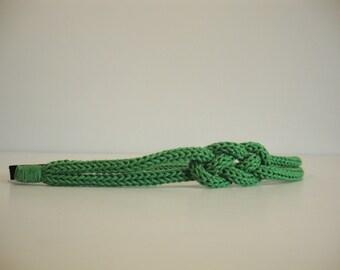 headband / sailor knot headband little girl-green leaf