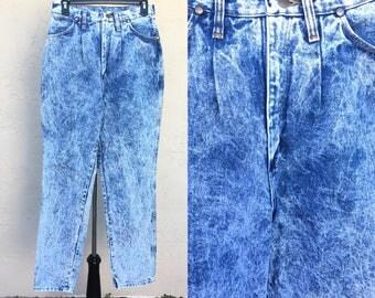 Vintage 80s Jeans/ Wrangler/ High Waisted/ Mom Jeans/ Beverly Goldberg/ 80s Costume/ Acid Wash/ 1980s/ 1990s