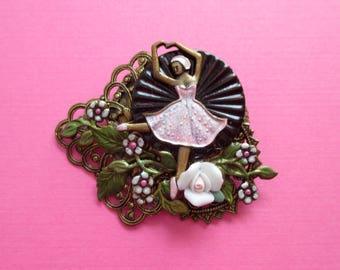 Pink Ballerina Pin - Artisan - Designer Montage
