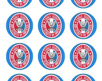 Eagle Scout Edible Cupcake Toppers