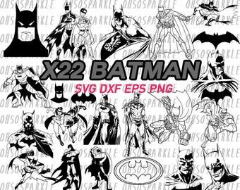 batman svg, clipart, stencil, decal, vinyl, eps, dxf, png, batman logo, superhero, marvel comics