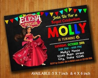 Elena of Avalor Invitations / Elena of Avalor Birthday Party Invitation / Elena of Avalor Digital File / Elena of Avalor Printable