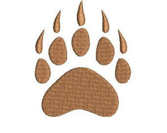Bear Footprint Paw Design Embroidery Fill Design Machine Embroidery Instant Download Digital File EN2050F1