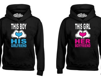 Couple Hoodies This Boy Loves His Girlfriend This Girl Loves Her Boyfriend Couples Cute Matching Love Couples Valentine's Day Gift