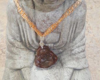 Laughing Buddha Hemp Necklace