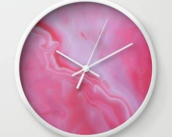 Wall Clock, Original Art Print Clock, Interior - Strawberries. Custom Order, Pre Order