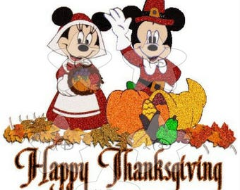 Mickey and Minnie Happy Thanksgiving Transfer