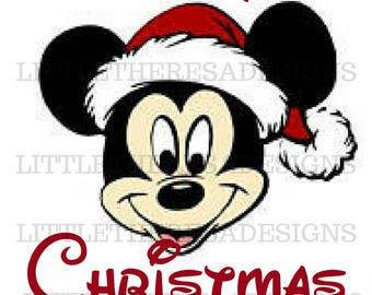 Merry Christmas Mickey Transfer,Digital Transfer,Digital Iron On,Diy