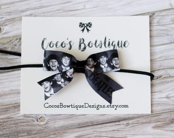 The Beatles Inspired Bow- Beatles hair bow- Rock n Roll- toddler hairbow-baby headband-girls