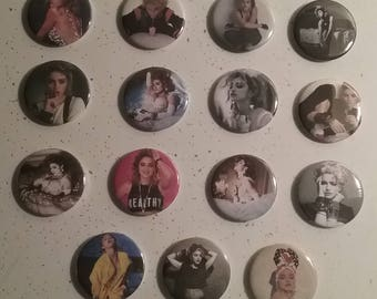 Madonna 1980s - 15 Pinback Button Collection