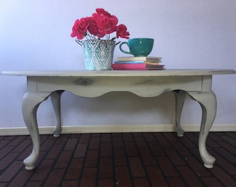 Distressed Oval Coffee Table