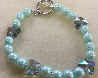 Glass Beaded Butterfly Bracelet