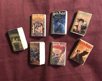 Mini Harry Potter book set - 1in
