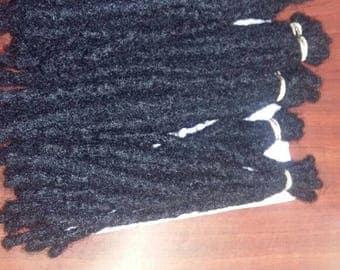 "100% Human Hair dreadlocks extensions Natural 10locs a pack 10"" to 20"" long"