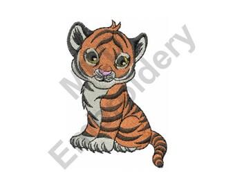 Tiger Cub - Machine Embroidery Design
